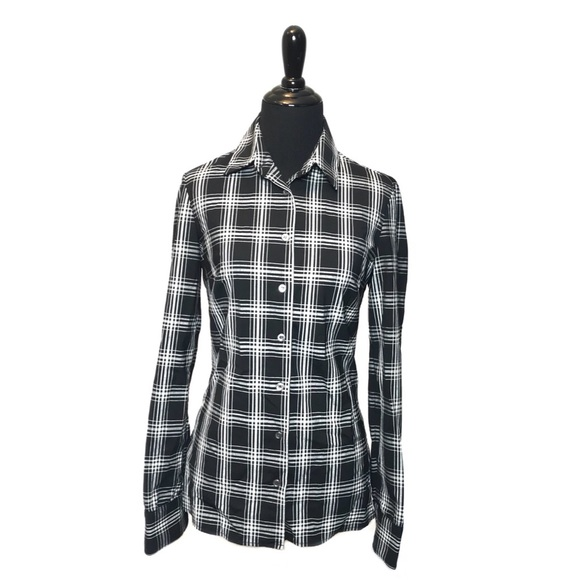 Michael Kors Tops - Michael Kors Collection Italy Black Button Up Top
